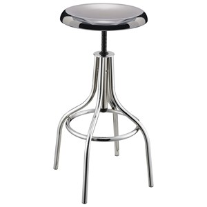 Chrome Backless Bar Stool