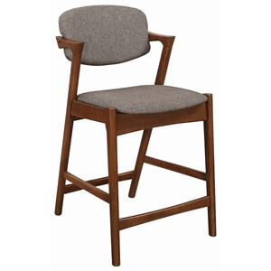 Mid Century Modern Upholstered Counter Height Stool