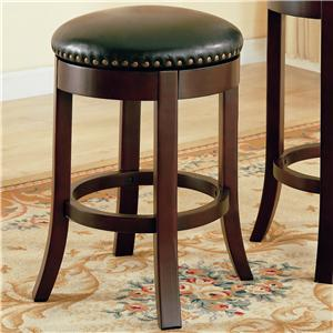 "Coaster Dining Chairs and Bar Stools 24"" Swivel Bar Stool with Upholstered Seat"