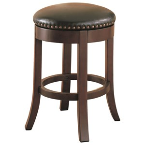 "24"" Swivel Bar Stool with Upholstered Seat"