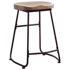 Rustic Counter Height Stool