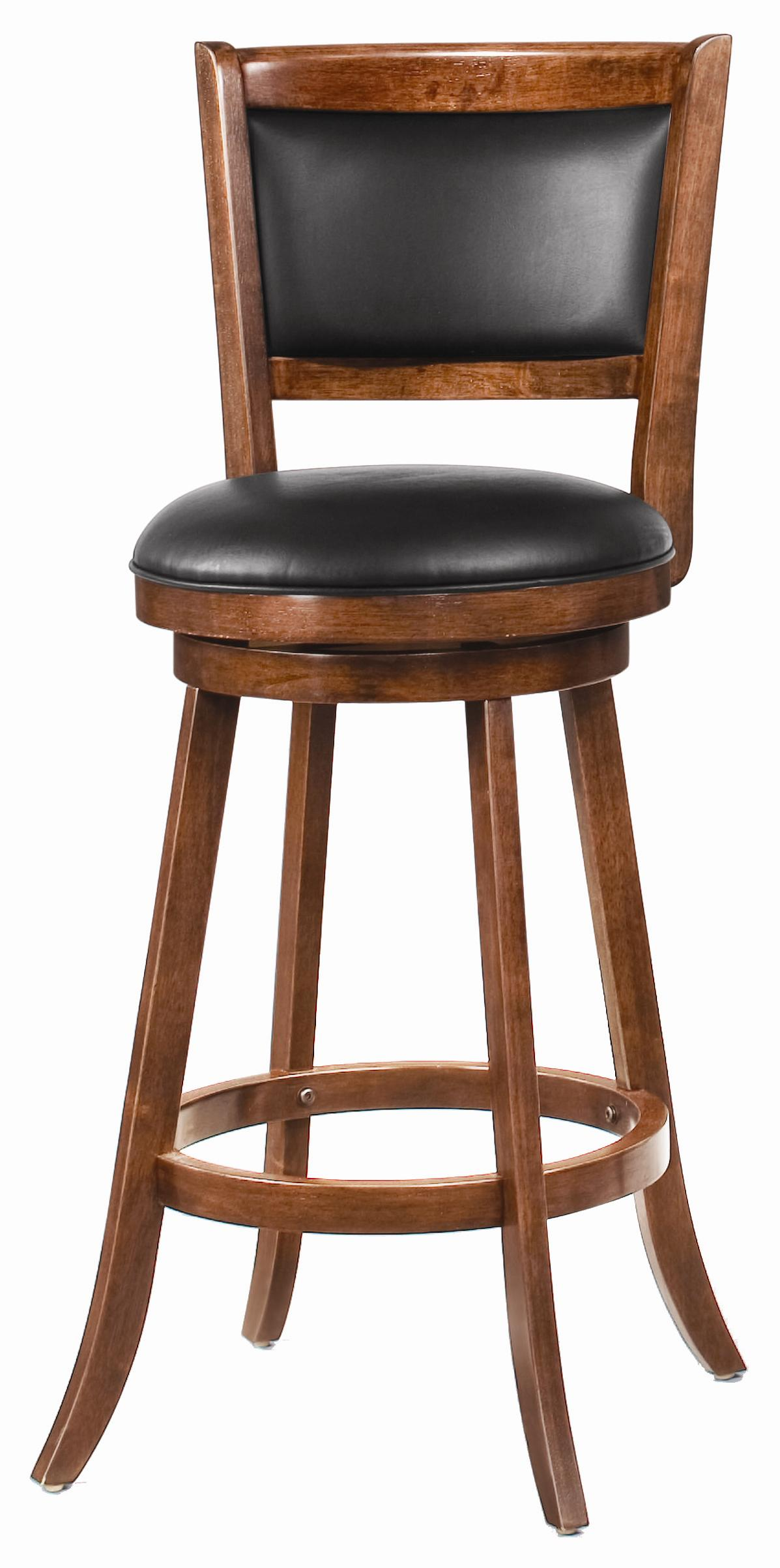 """Dining Chairs and Bar Stools 29"""" Swivel Bar Stool with Upholstered Seat by Coaster at Northeast Factory Direct"""