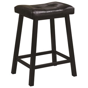 Upholstered Backless Counter Height Stool