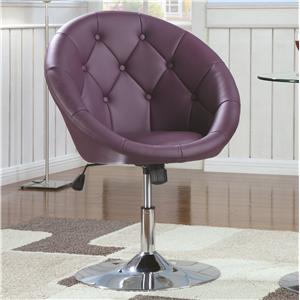 Coaster Dining Chairs and Bar Stools Swivel Chair (Purple)