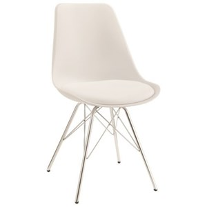 Contemporary Dining Chair with Chrome Legs