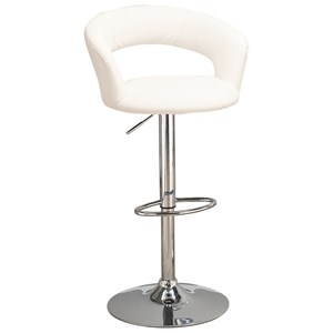 "29"" Upholstered Bar Chair with Adjustable Height"