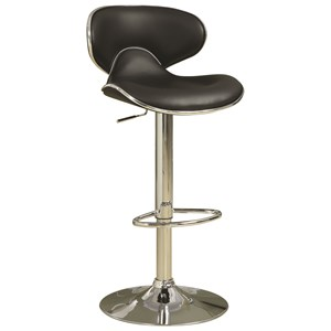 Adjustable Height Contemporary Bar Stool with Swivel Seat