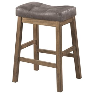 Rustic Backless Counter Height Stool