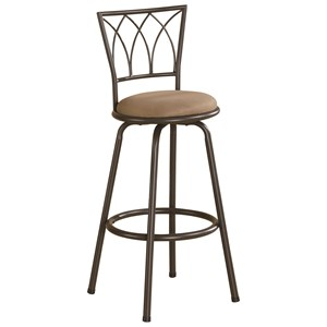 """29"""" Metal Bar Stool with Upholstered Seat"""