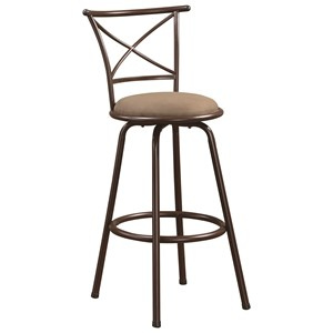 "29"" Metal Bar Stool with Upholstered Seat"