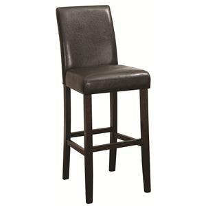 "29"" Bar Stool with Upholstered Back and Seat"