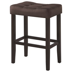Upholstered Backless Bar Stool