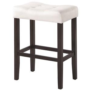 Upholstered Backless Bar Stool