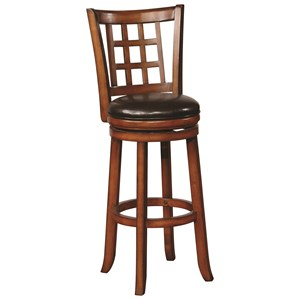 Swivel Barstool with Upholstered Seat