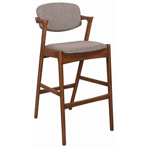 Mid Century Modern Upholstered Bar Stool