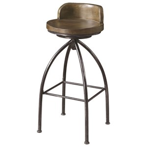 Swivel Counter Stool with Metal Base