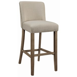 Vintage Bar Stool with Nailheads
