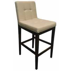 Casual Upholstered Bar Stool