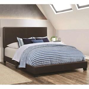 Upholstered Leatherette Full Bed