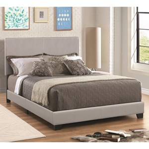 Leatherette Upholstered Queen Bed