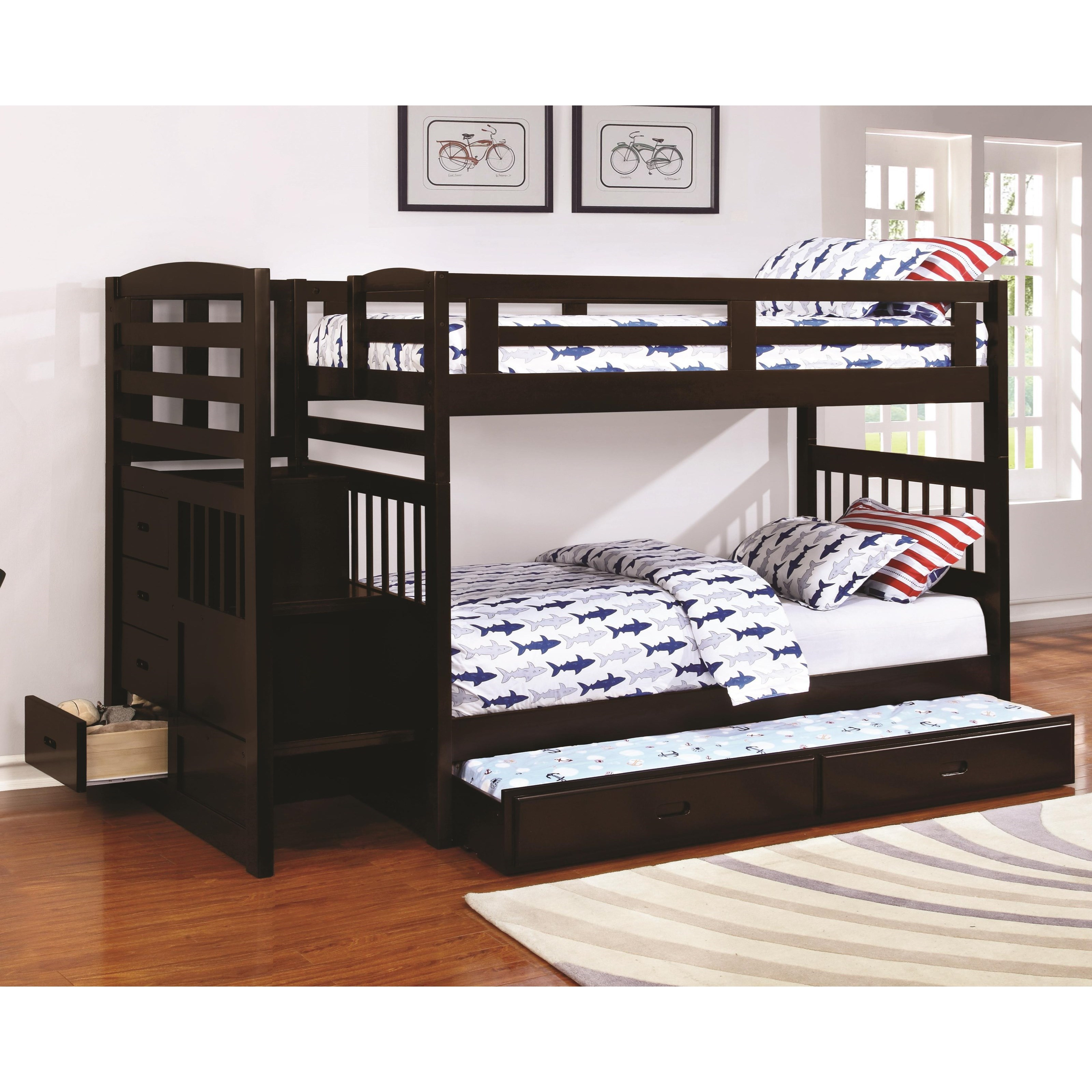 Dublin Twin over Twin Bunk Bed by Coaster at Northeast Factory Direct