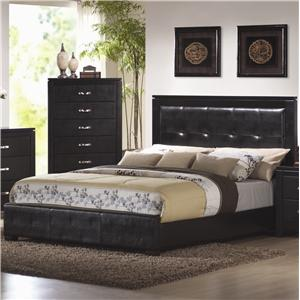 Coaster Dylan California King Upholstered Bed