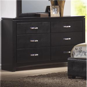 Faux Leather 6 Drawer Dresser