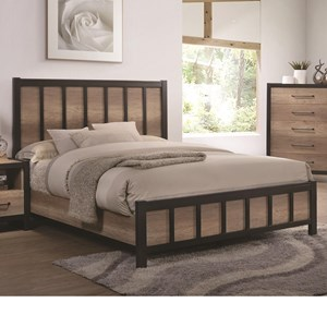 Queen Industrial Panel Bed