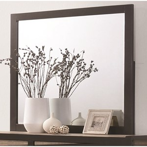 Mirror with Black Metal Frame