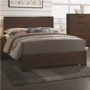 Queen Bed with Wood Headboard
