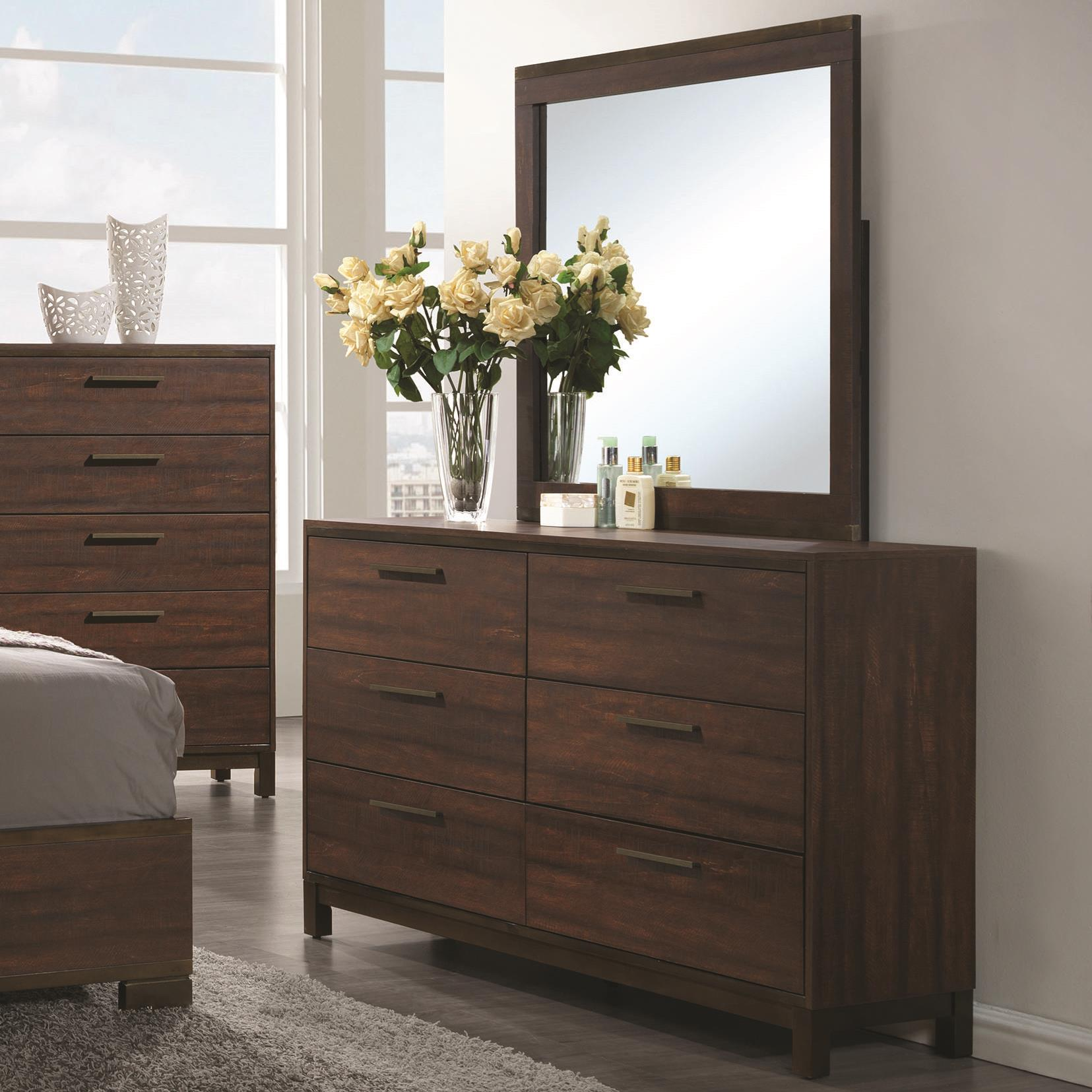 Edmonton Dresser and Mirror by Coaster at Value City Furniture