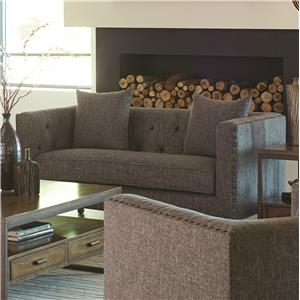 Loveseat with Traditional Industrial Style