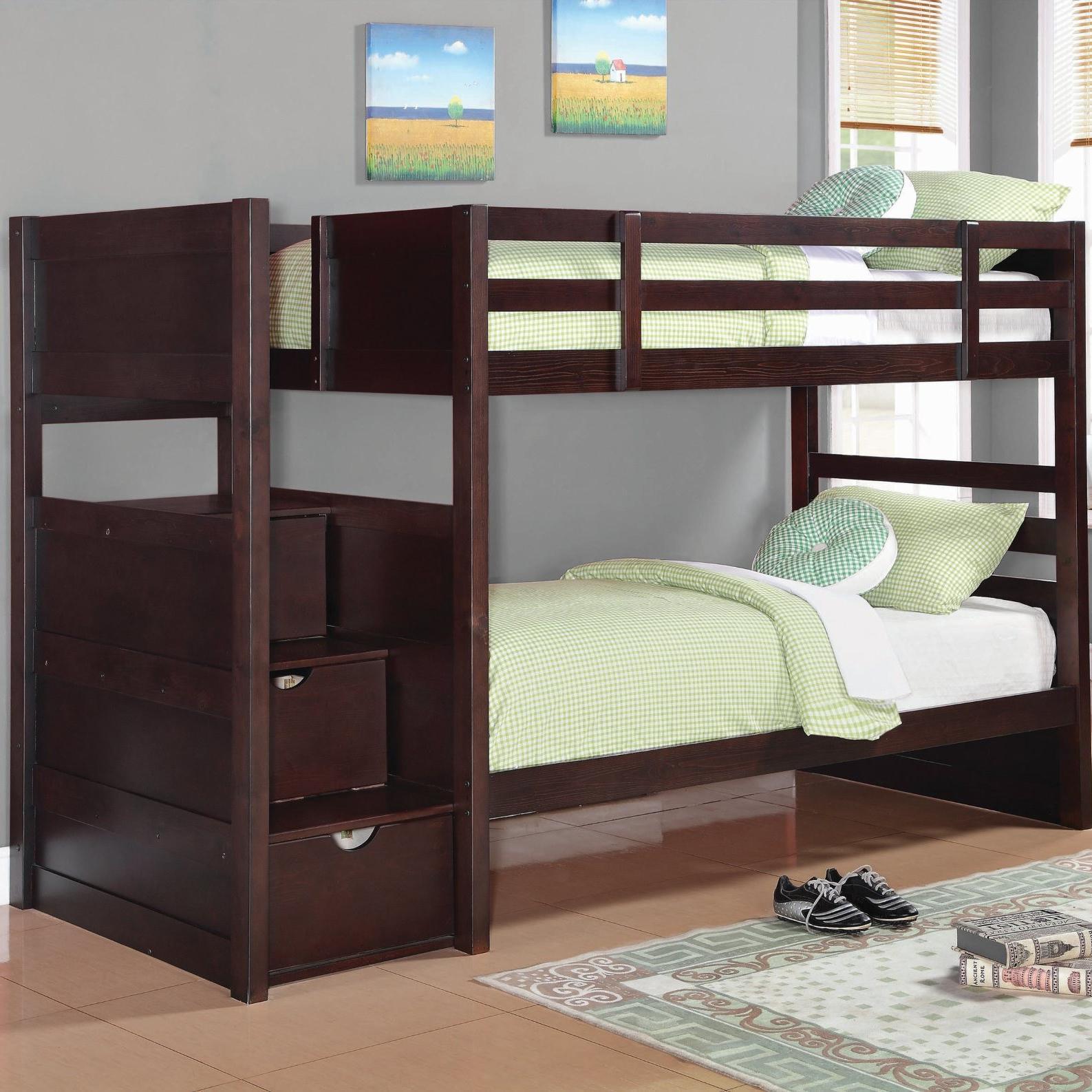 Elliott Bunk Bed by Coaster at A1 Furniture & Mattress