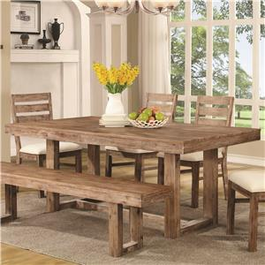 "Rustic ""U"" Base Dining Table"