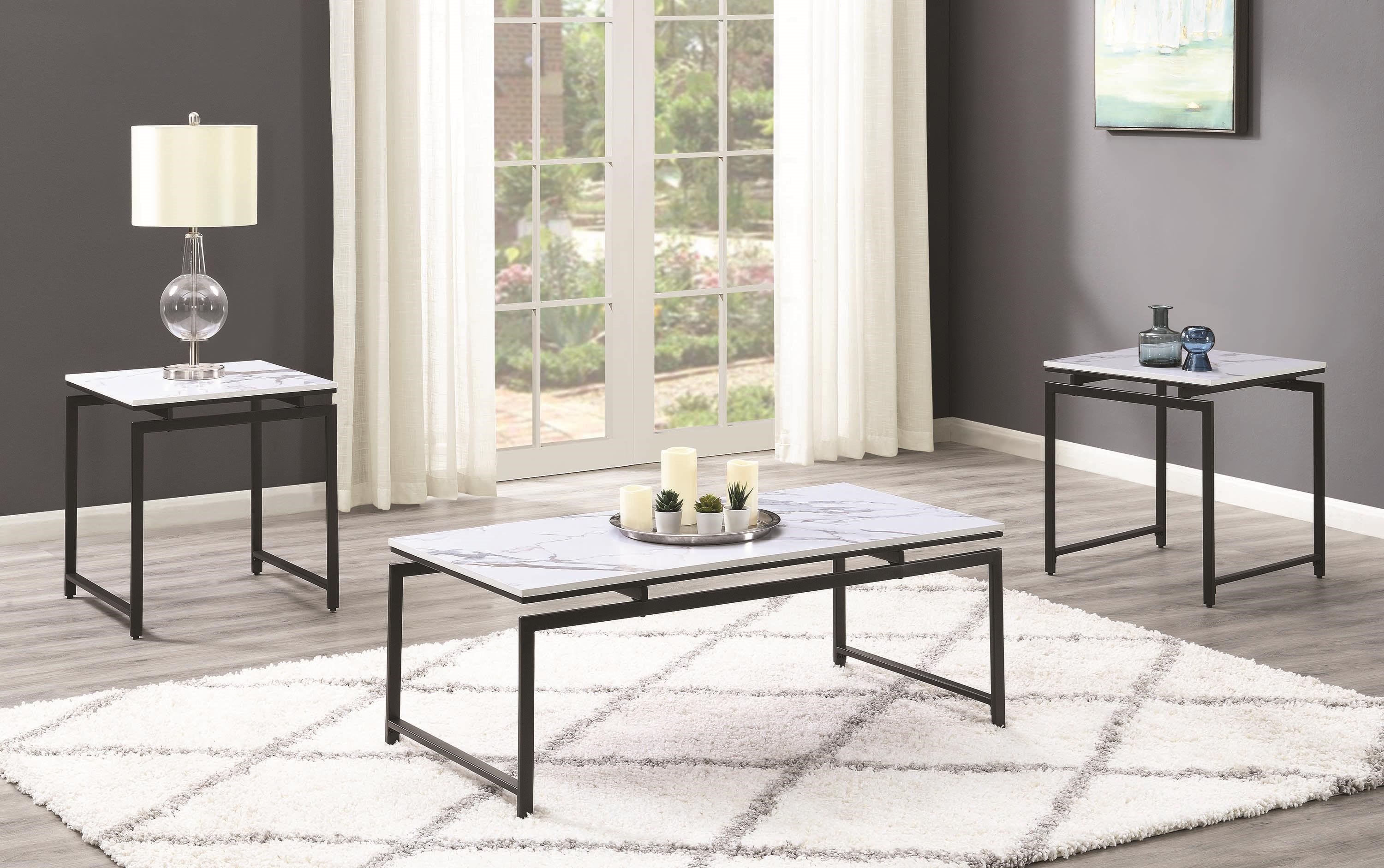 Essence 3 Piece Occasional Set by Coaster at HomeWorld Furniture
