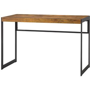 Industrial Computer Desk with Metal Frame