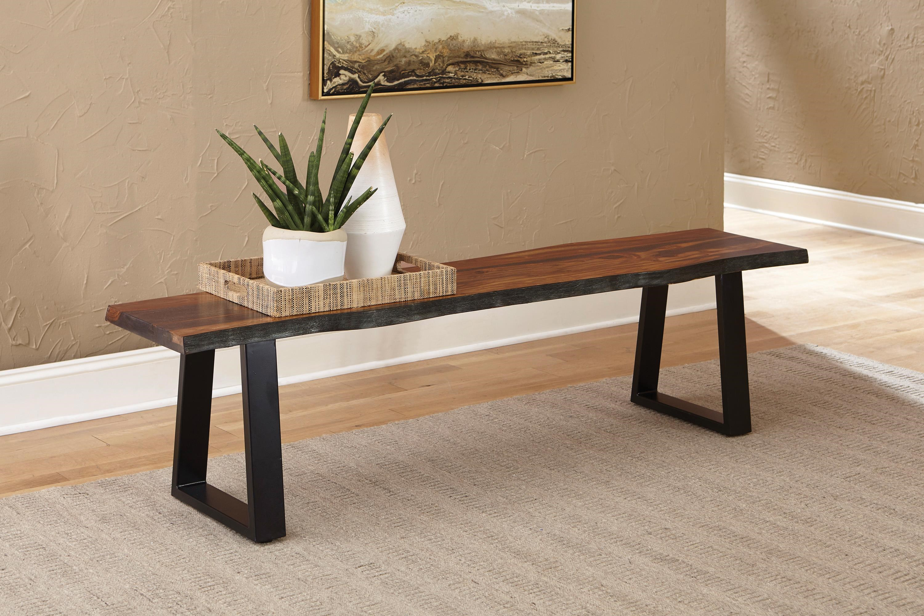 Everyday Ditman Rustic Bench by Coaster at HomeWorld Furniture