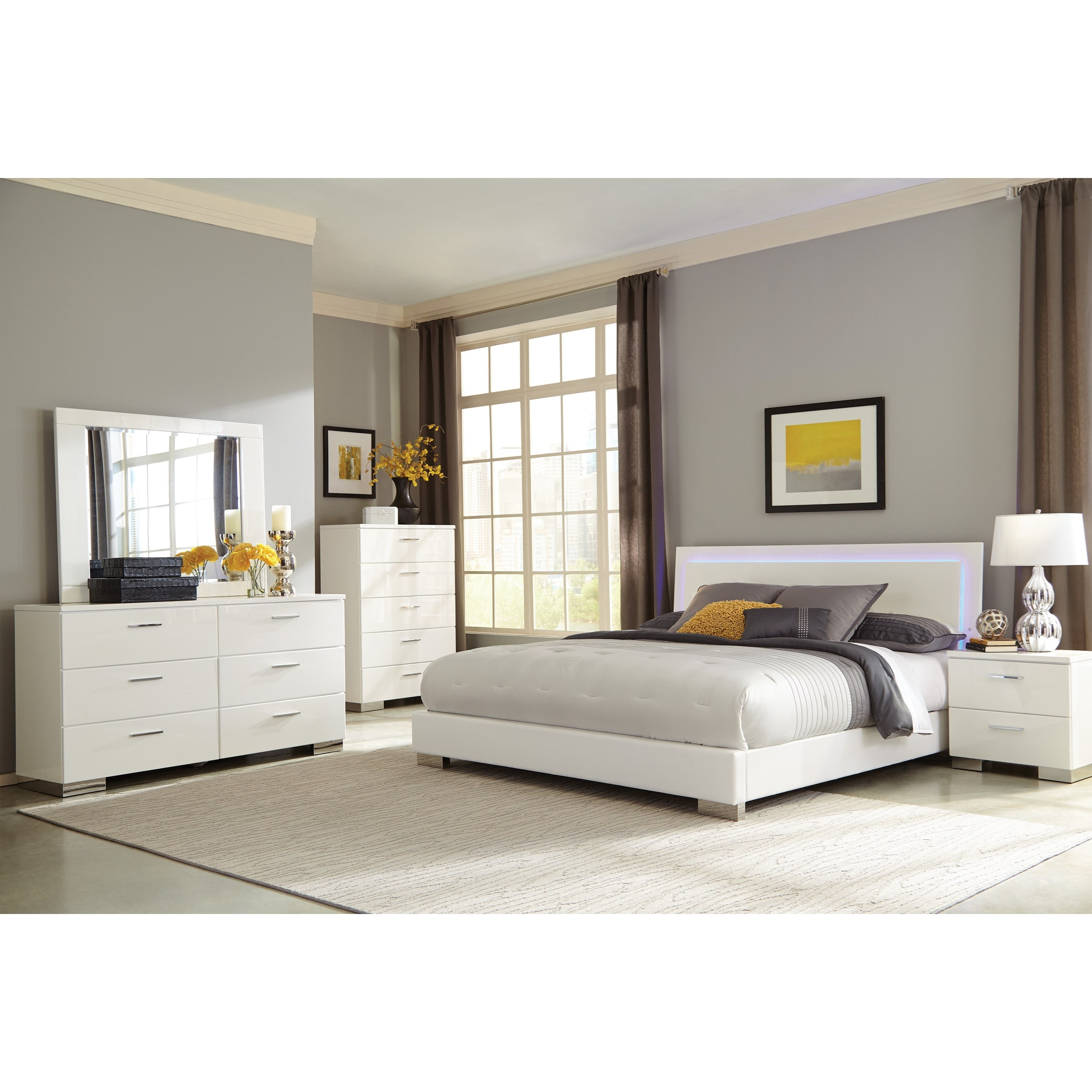 Felicity Queen Bedroom Group by Coaster at Northeast Factory Direct