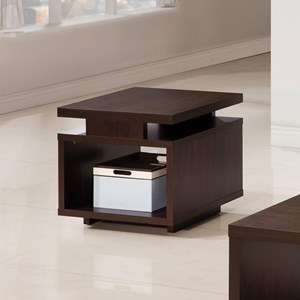 Modern End Table with Open Design