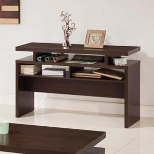 Modern Sofa Table with 2 Shelves