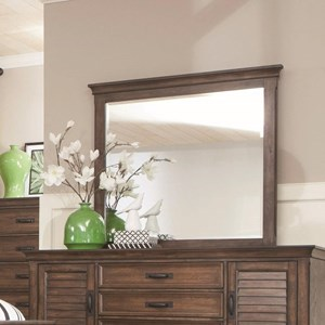 Mirror with Weathered Wood Frame