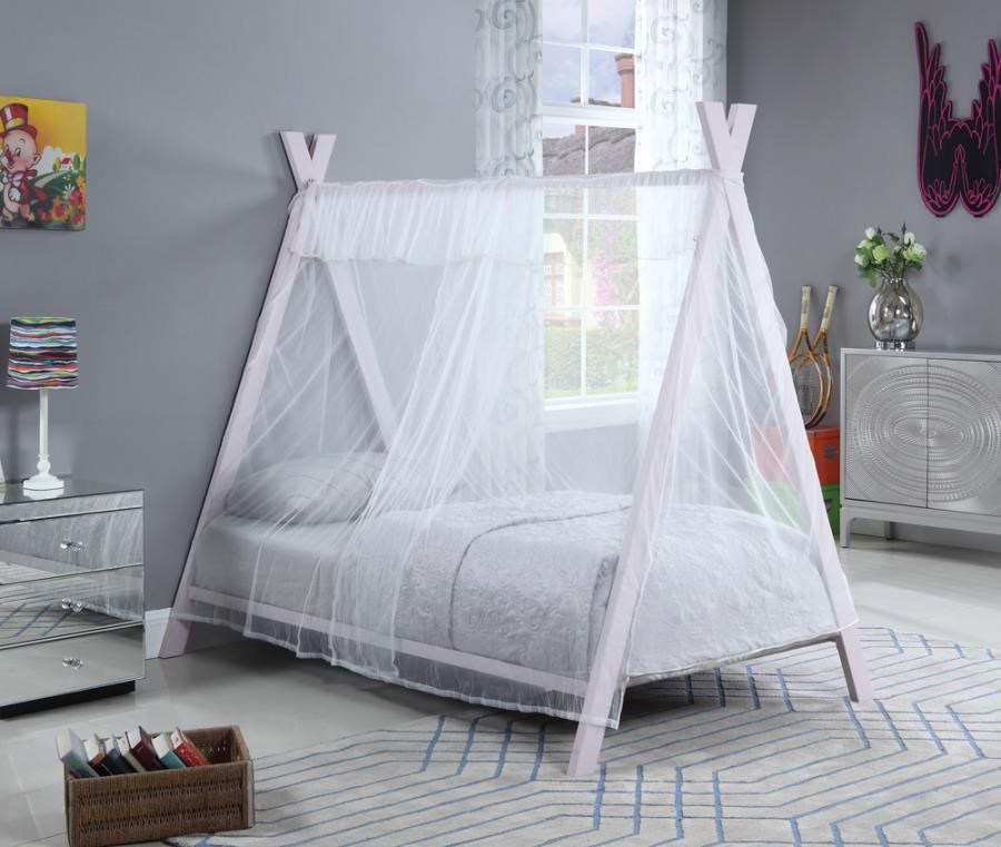Fultonville Twin Canopy Bed by Coaster at Beck's Furniture