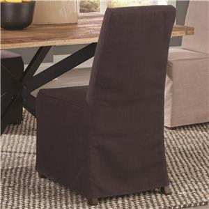 Slip Covered Fabric Dining Chair