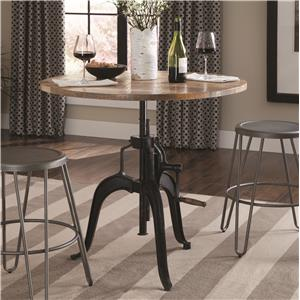 Adjustable Height Dining Table with Crank