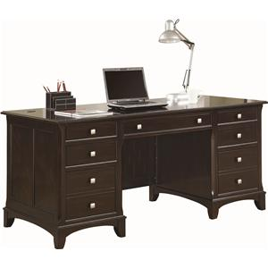 Double Pedestal Desk with 7 Drawers