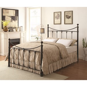 Traditional King-Sized Metal Bed