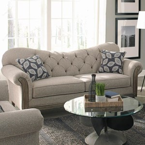 Transitional Sweetheart Sofa with Tufting