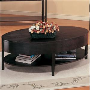 Oval Coffee Table with Shelf