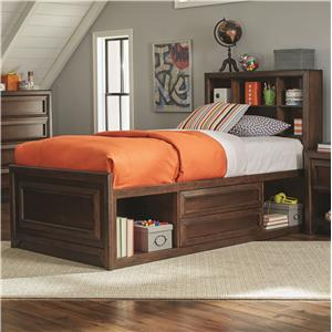 Twin Bed with Bookcase Storage
