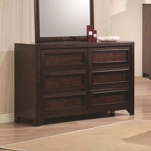 Dresser with Six Full Extension Glide Drawers
